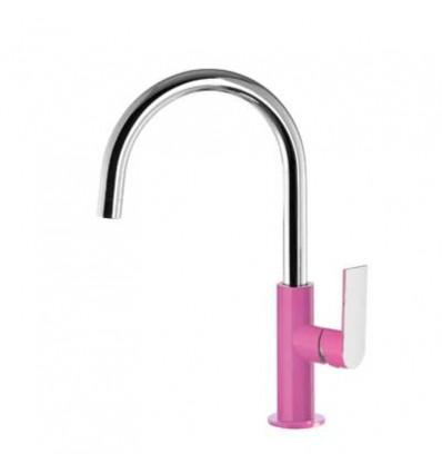 20020505FUD-loft-colors-tres-grifo-monomando-lavabo-cano-curvo-fucsia-cromo
