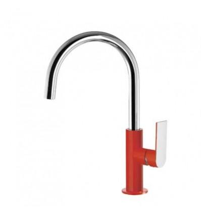 20020505ROD-loft-colors-tres-grifo-monomando-lavabo-cano-curvo-rojo-cromo