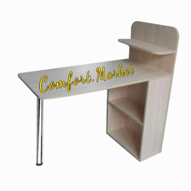 Складывающийся компактный маникюрный столик с полочкой для лаков