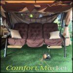 Садовые качели Техас Люкс с мягкими подушками и шатром