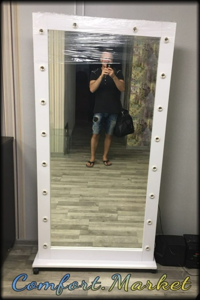 Зеркало 190 * 85 см для магазина, салона красоты, парикмахерской, примерочной.