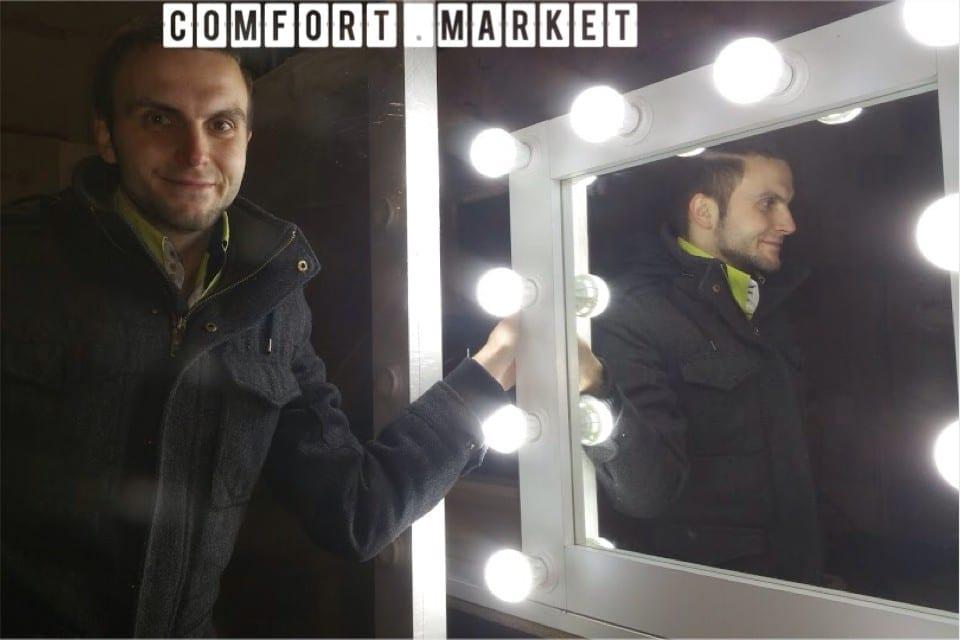 Производство мебели для мастеров красоты: зеркало для макияжа 65*62 см.